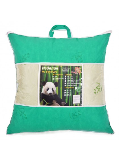 """Подушка """"Бамбуковое волокно"""" 70x70 тик"""